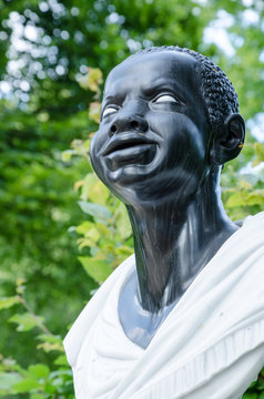 Baroque statue of an Afro-American woman (18 century), Potsdam, Germany