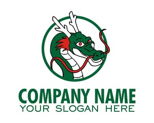 dragon logo image vector