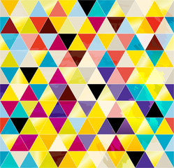 seamless pattern background, with triangles, strokes and splashe