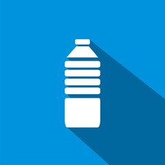 Icono botella de agua sombra