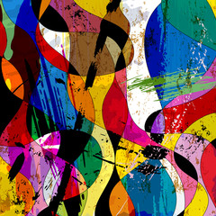 abstract colorful background composition, with paint strokes, sp