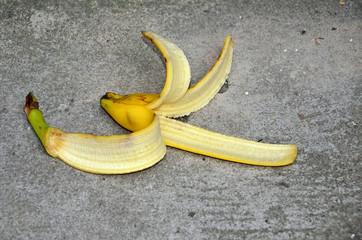 unfallgefahr, bananenschale, ausrutschen