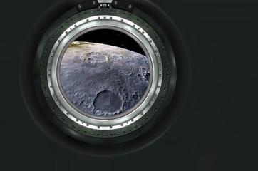 Moon, Mars of alien planet landscape.