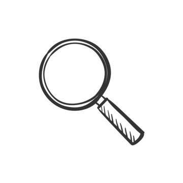 hand draw doodle search icon