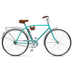 Vector Bicycle with Rounded Frame