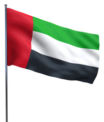 UAE flag waving