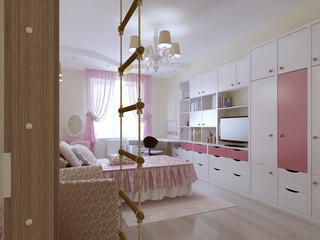 Spacious teenager bedroom design