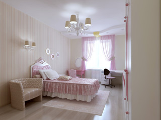 Young princess bedroom