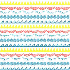 Seamless abstract hand drawn pattern. Vector.