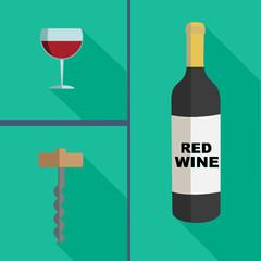 wine flat design