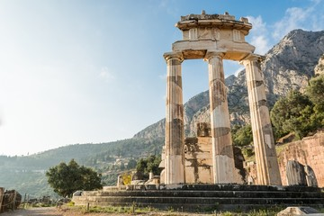 Ancient temple of Goddess Athena.