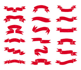Red vintage ribbons.