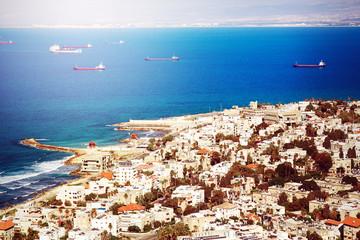 View on Coast of Haifa, Israel