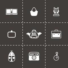Vector Bag icon set