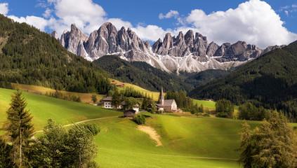Panorama of Geisler (Odle) Dolomites Group