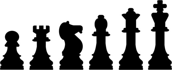 Chess Icons in a row