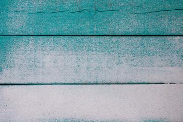 Blank teal blue sandy beach sign
