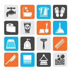 Silhouette Bathroom and Personal Care icons