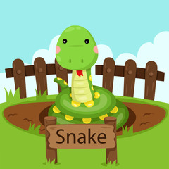 Illustrator of Snake in the zoo