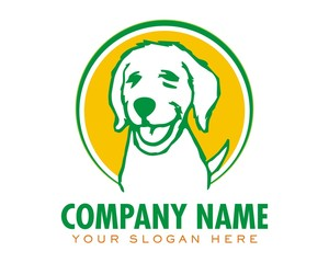 dog puppy pet character logo image vector