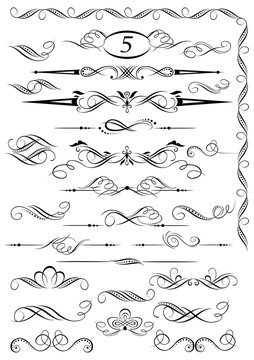 Calligraphic vintage page decoration design