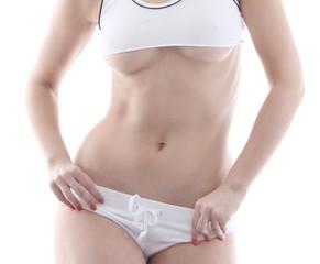 Frau mit Bikinifigur