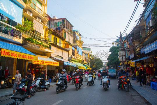 Asia. The Capital Of Vietnam. Street in Hanoi.