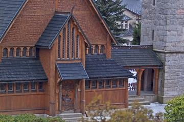 Norwegian temple Wang in Karpacz, Poland.