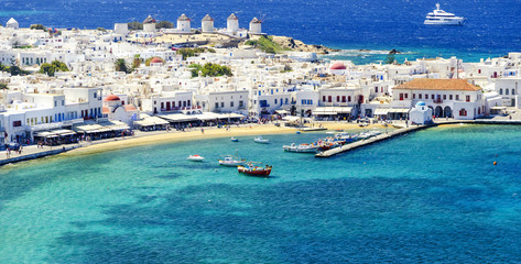 Mykonos island in Greece Cyclades Fototapete