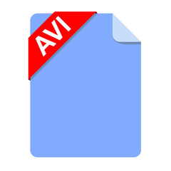 Icono documento extension AVI