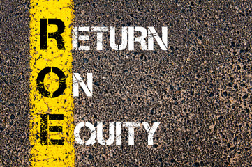 Business Acronym ROE - Return on Equity
