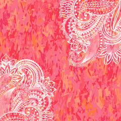 Vintage floral motif background.