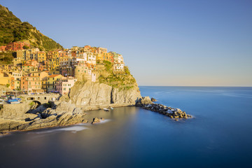 Wall Mural - Sunset of Manarola, one of the five villages of the Cinque Terre