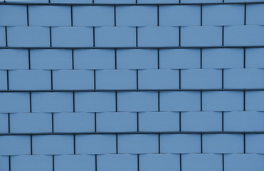 Flechtzaun in blau