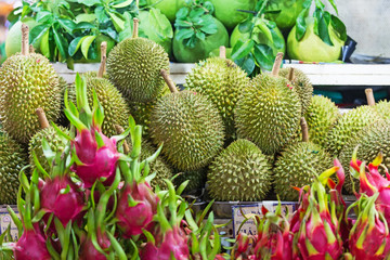 Durian and pitahaya