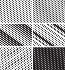 Simple striped patterns. Vector set
