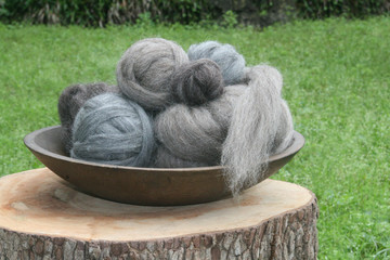 Sheep Wool Fiber Samples