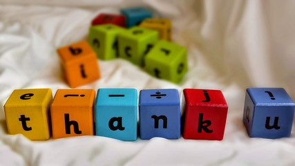 Kids blocks thank you