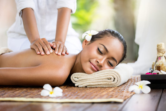 Spa massage outdoor