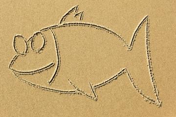 closeup image on a sandy beach