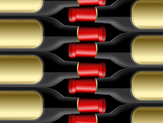 Champagne Bottles Pattern
