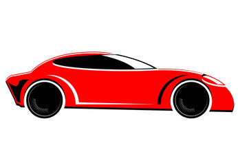 Red sports or race car vector image
