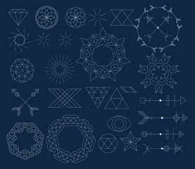 set of trendy geometric icon and design element