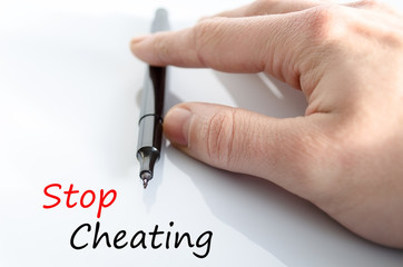 Stop Cheating Concept