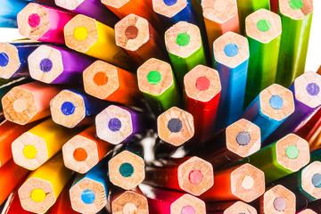 Closeup of Coloured Pencils