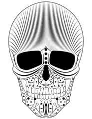Artistic decorative skull