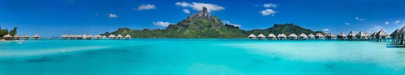 Photo sur Plexiglas Tropical plage Bora Bora panorama
