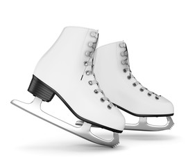 Figure skates isolate on white