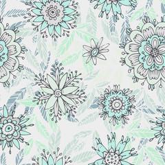 Seamless floral pattern in cartoon stile