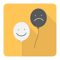 Smiley face. Happy and Sad. Vector Illustration.